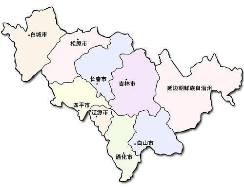 中国地図大全 : 吉林省地図