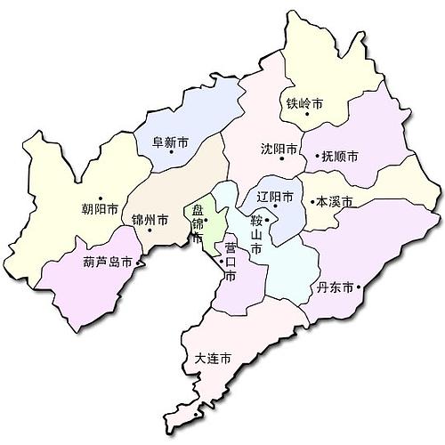 中国地図大全 : 遼寧省地図