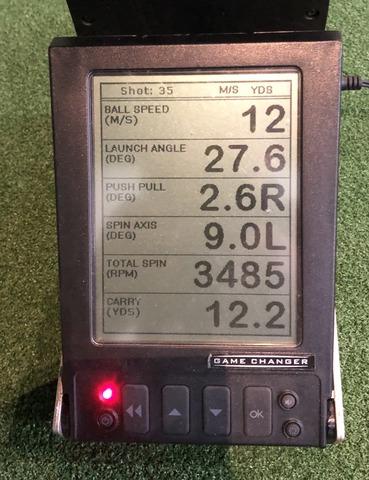モーダス125ウェッジ スピンデータ