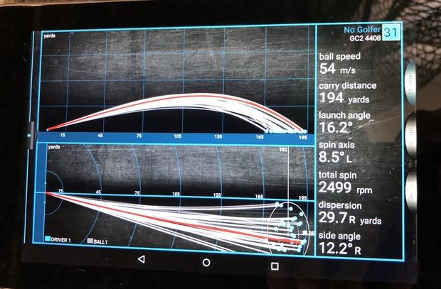 若林プロ 短尺ドライバー GC2データ