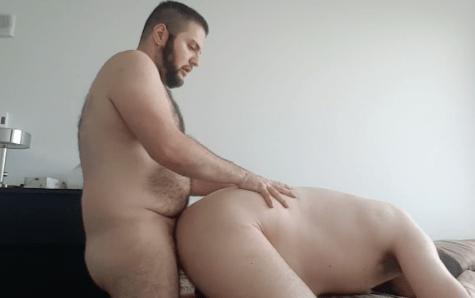 無料ゲイ動画 - はめ撮り趣味のガチデブゲイカップル集!真昼間から雄交尾に勤しむ!