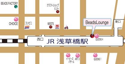 BeadsLounge浅草橋店-地図