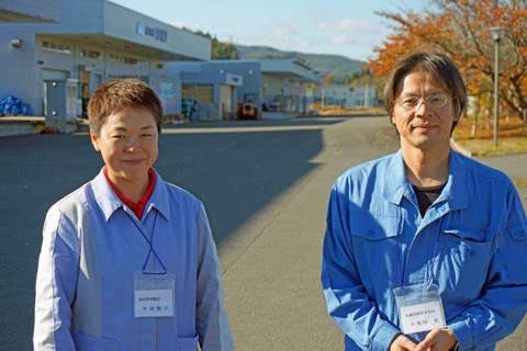製造管理課長 平沼さん 取締役統括本部長久保田さん 補正