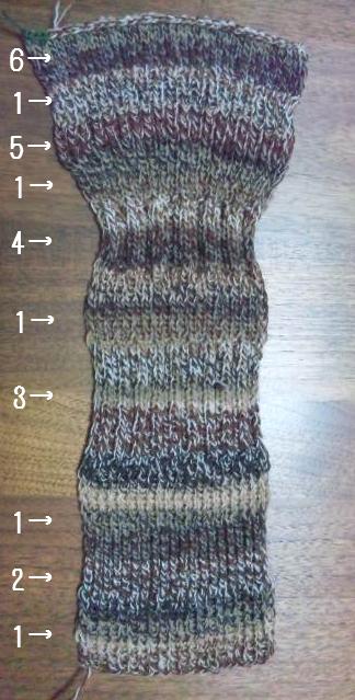 ゴム編み比較000