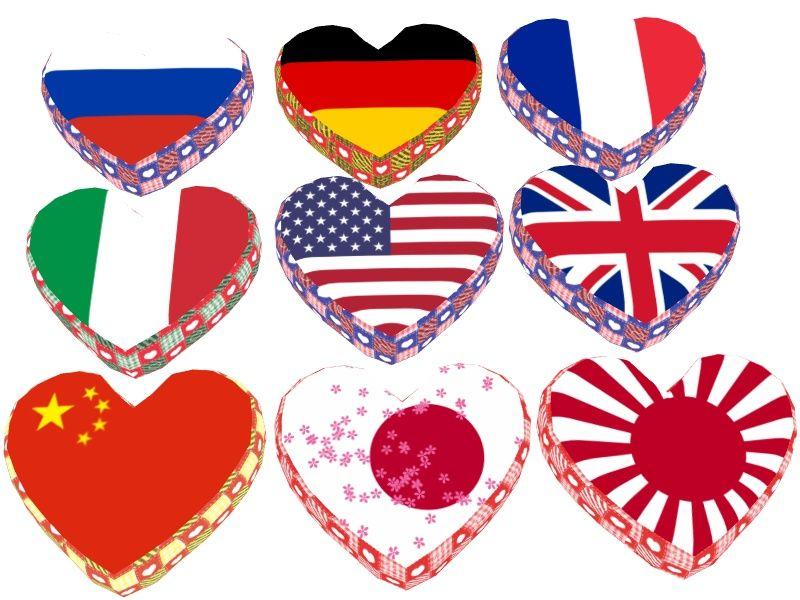 ハート型の国旗クッション http//ux.getuploader.com/chisato_mmd/download/9/heart2.zip ぱす 愛国心が試される?