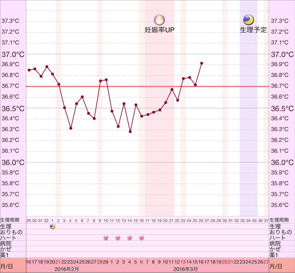 した 目 時 11 妊娠 高温 日 期
