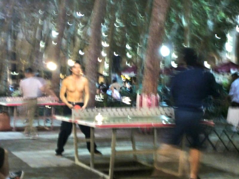 海保知里オフィシャルブログ「NYでなりゆ記」Powered by Ameba-ブライアントパークで卓球!
