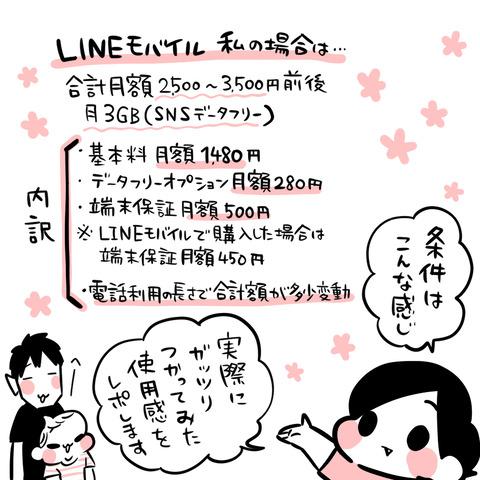 LINEモバイル清書3