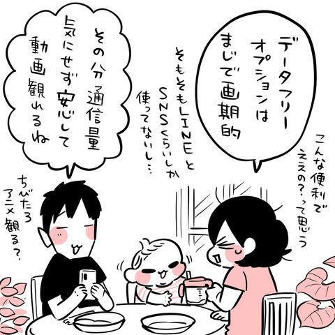 LINEモバイル清書10