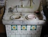 喜多方_昔の床屋の洗面台
