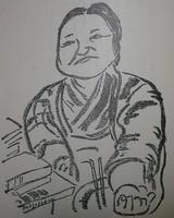 平林たい子(長谷川春子画)
