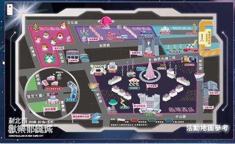 イルミネーション地図