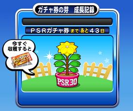 【パワプロアプリ】ガチャ券の種、PSR30%券→PSR券までの水やり期間は43日…。初収穫は5月末か…。