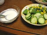 簡単ダイエットレシピ ほうれん草ヨーグルトドレッシングサラダ
