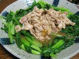 簡単ダイエットレシピ 豚とこまつ菜のあんかけ