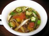 ダイエットスープレシピ オクラミョウガの梅干し入りスープ