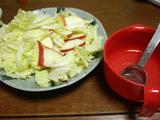 簡単ダイエットレシピ 白菜とリンゴのゆずドレシシングサラダ1