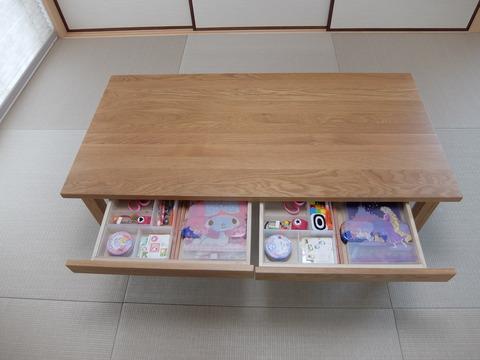 無垢材ローテーブル5