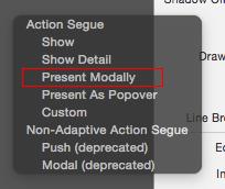 presentModaly