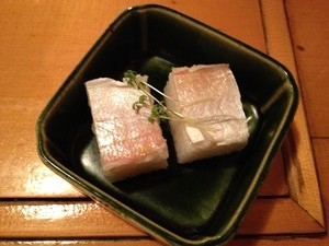 小鯛の押寿司