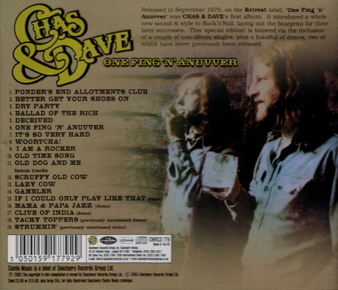 CHAS & DAVE - ONE FING 'N' ANUVVER (1975), Reissue CD (2003) b