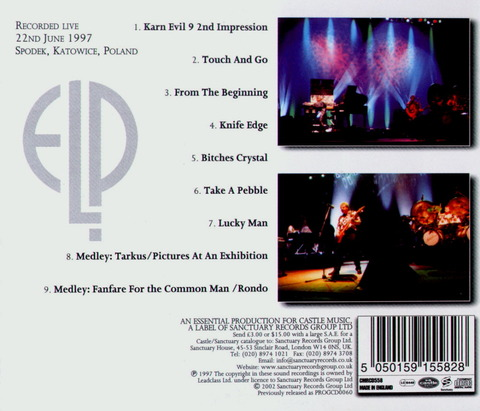 Emerson, Lake & Palmer - Live In Poland (2002) B