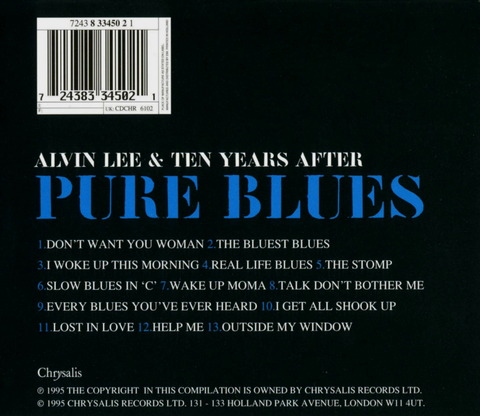 ALVEN LEE & TEN YEARS AFTER PURE BLUES (1995) B
