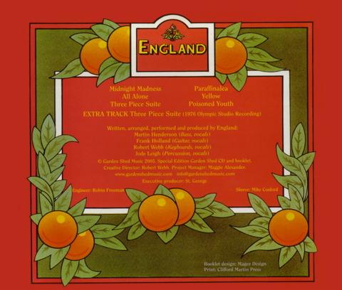 England - Garden Shed (1977) CD(2005) B