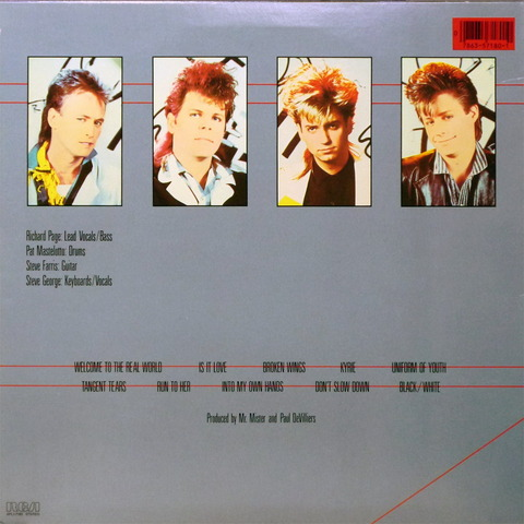 MR MISTER - WELCOME TO THE REAL WORLD (1985) B