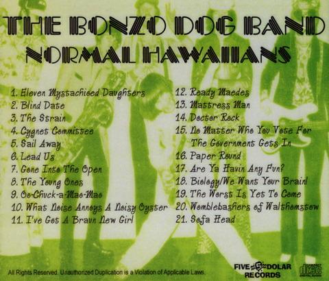 THE BONZO DOG BAND - NORMAL HAWAIIANS CD B