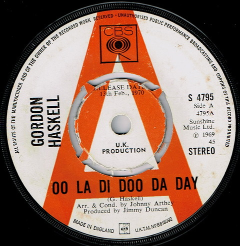 GORDON HASKELL - OO LA DI DOO DA DAY (1970)