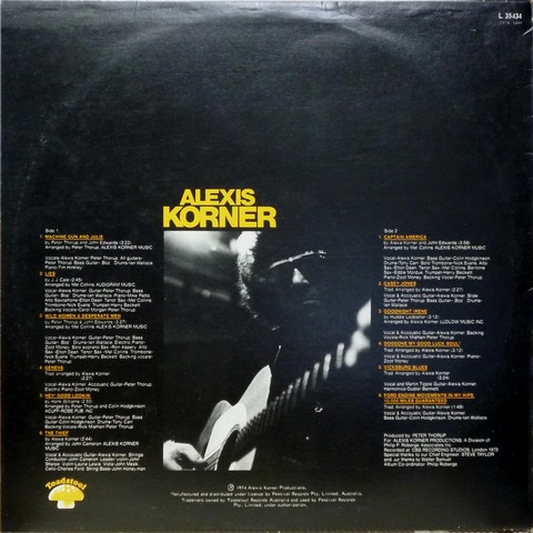 ALEXIS KORNER - Mister Blues (1974) B