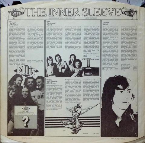 Ellis - why not  (1973) COMPANY SLEEVE