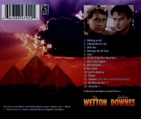 JOHN WETTON GEOFFREY DOWNES (2001) B