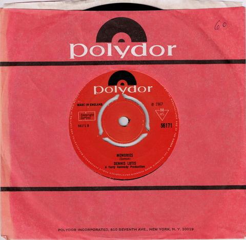 DENNIS LOTIS - MEMORIES (1967) B