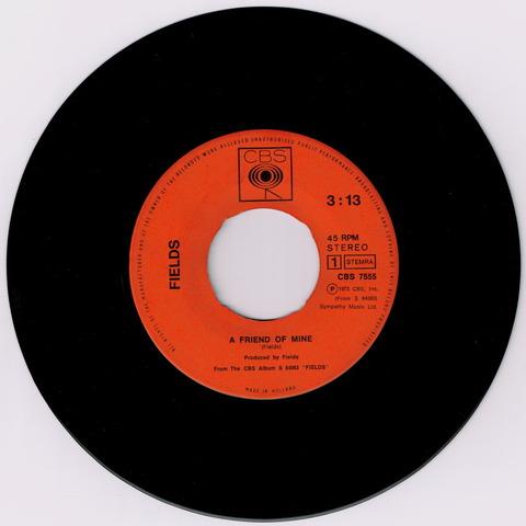 FIELDS - A FRIEND OF MINE + THREE MINSTRELS (1971) a