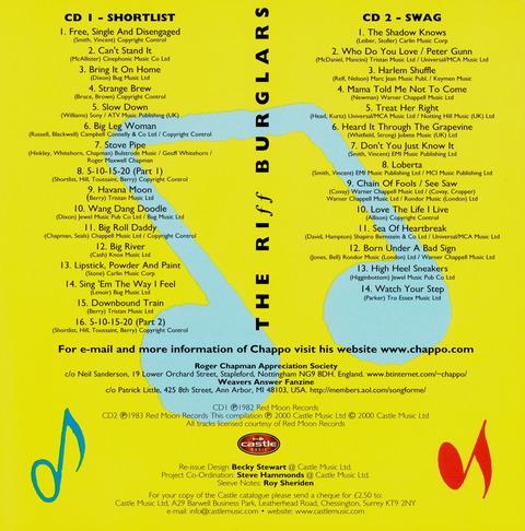 THE RIFF BURGLARS - SHORT LIST SWAG Reissue 2CD(2000) i