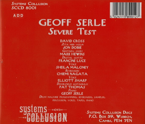 GEOFF SERLE - SEVERE TEST (1993) CD b