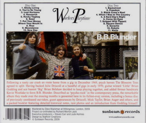 BLUNDER - WORKERS PLAYTIME (1971), reissue 2CD (2009) b
