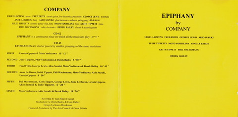 EPIPHANY by COMPANY (1982) (2001)