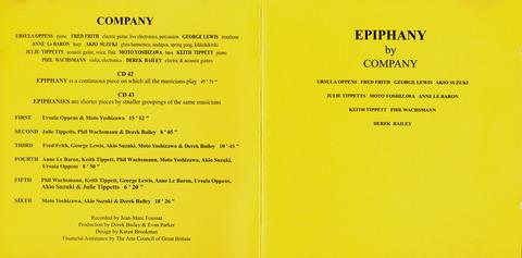 EPIPHANY by COMPANY (1982) (2001)