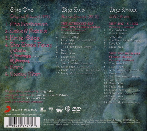 EMERSON LAKE AND PALMER - SAME Deluxe Edition (2012) 2CD+DVD b