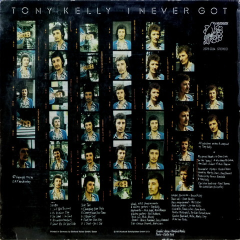 TONY KELLY - I NEVER GOT (1973) B