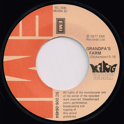 King Harry Holland single LABEL B