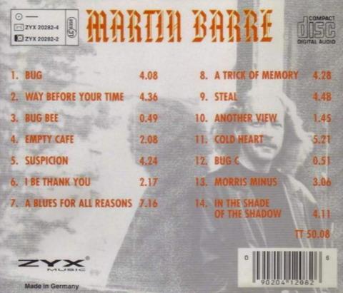 MARTIN BARRE - A TRICK OF MEMORY (1994) B