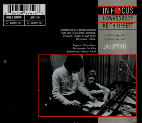 HOWARD RILEY - KEITH TIPPETT - IN FOCUS (2002) B