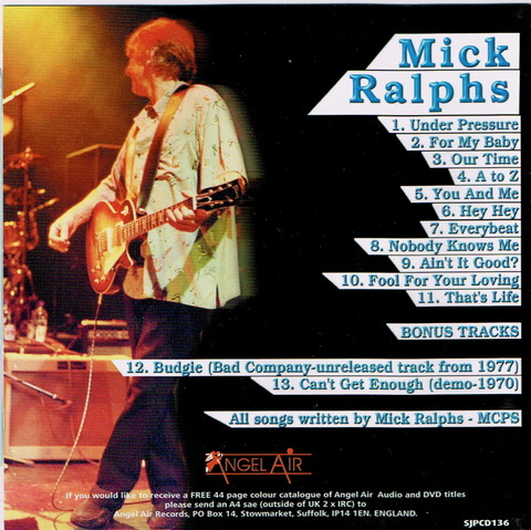 Mick Ralphs - That's Life - Can't Get Enough b