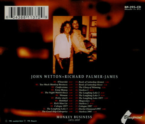 JOHN WETTON + RICHARD PALMER-JAMES MONKEY BUSINESS CD b