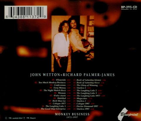 JOHN WETTON + RICHARD PALMER-JAMES MONKEY BUSINESS CD b