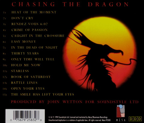 JOHN WETTON - CHASING THE DRAGON (1994) B